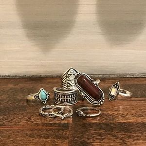 Boho Boutique rings set